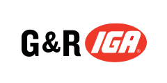 A theme logo of G&R IGA